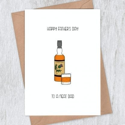 whisky neat father's day card