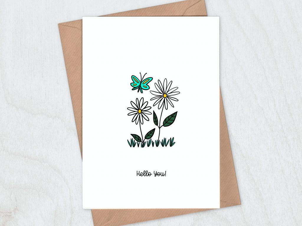 Daisies hello you card