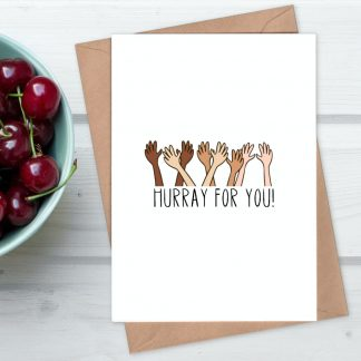 Hurray for you congratulations card