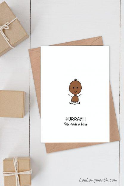 Baby congratulations card 2 pin