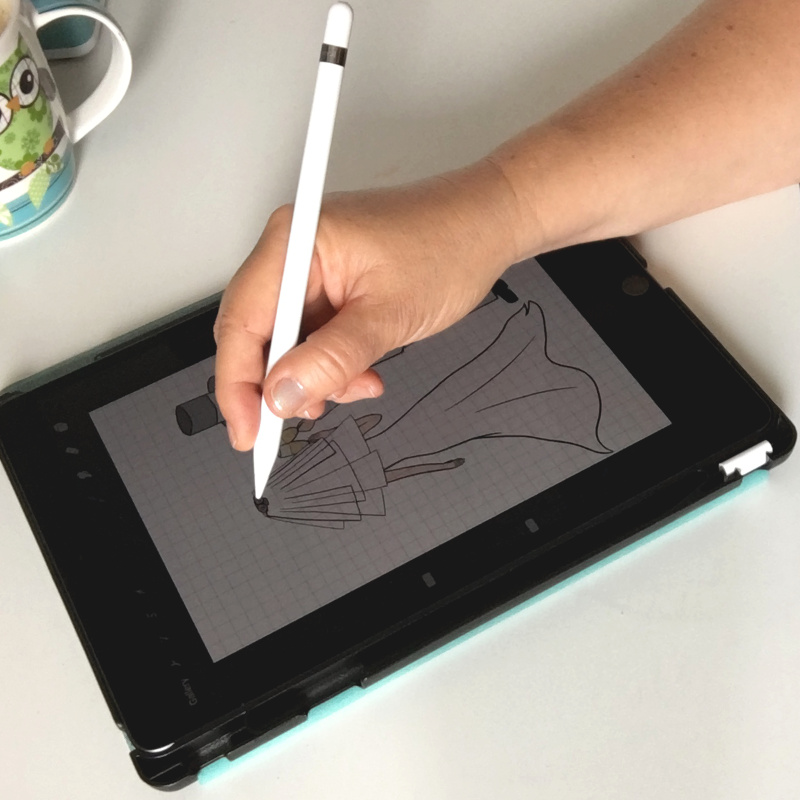 Favourite card design tools - Drawing with iPad and Apple Pencil