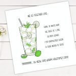 Mojito Drawing & Card Design