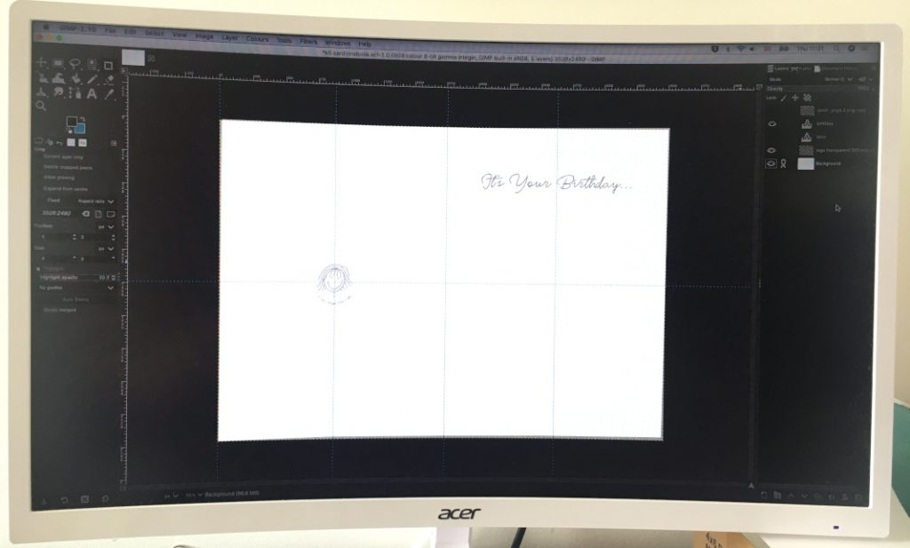 card design template in GIMP