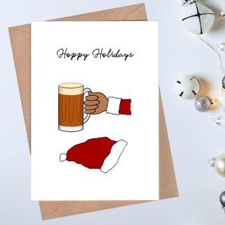Beer Christmas Card - Hoppy Holidays