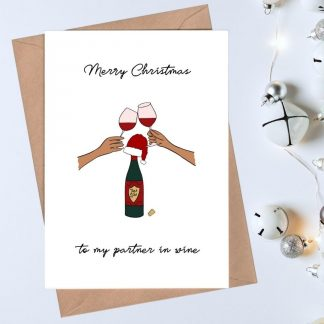 Merry Christmas to my partner in wine Christmas card