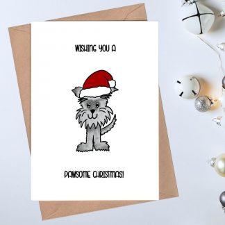 pawsome dog christmas card