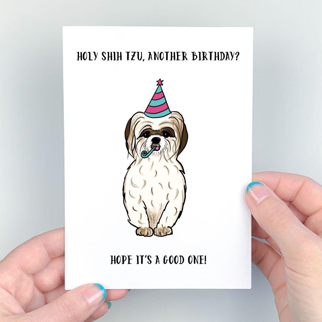 Shih Tzu Card