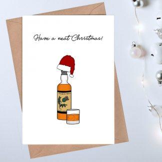 Whisky Christmas Card