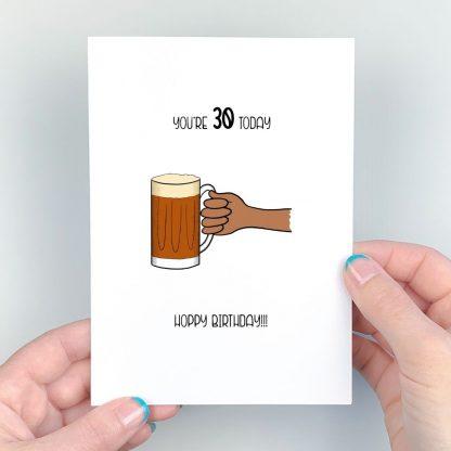 beer 30th birthday card
