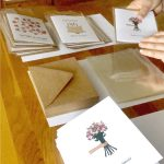 Wholesale greeting cards order being packaged up