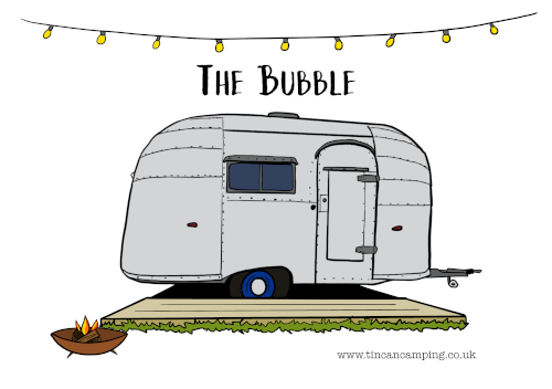 The Bubble custom postcard