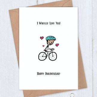 cycling anniversary card